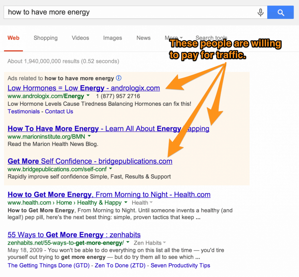 how to have more energy Google search