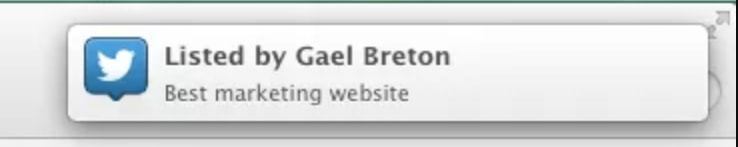 Listed by Gael Breton Twitter