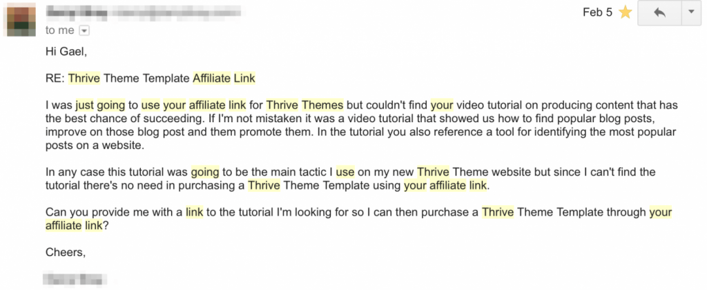 Thrive Theme Template Affiliate Link