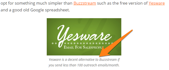 Yesware alternative to Buzzstream