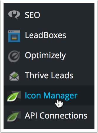 WordPress Dashboard Icon Manager