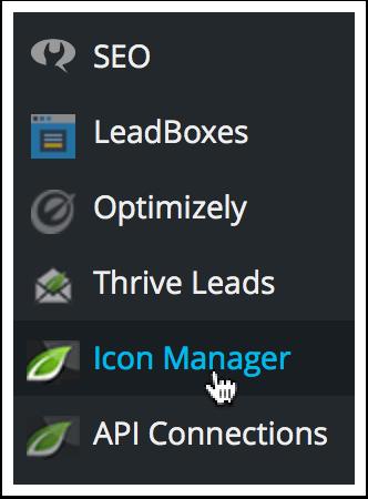 WordPress Dashboard Icon Manager