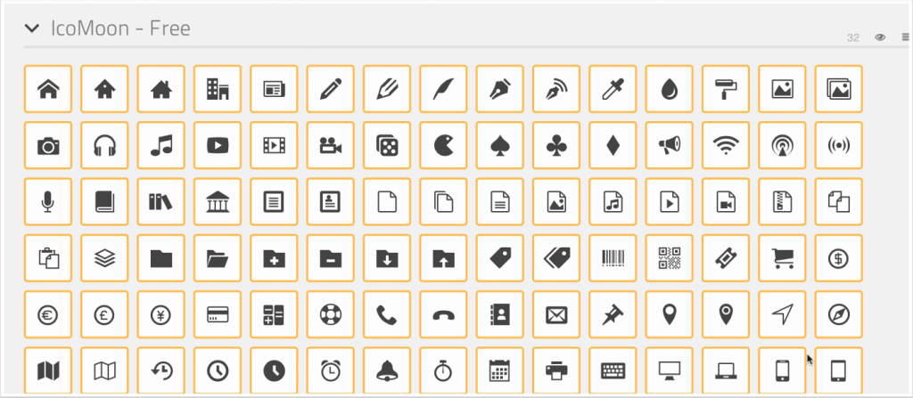 IcoMoon Icons