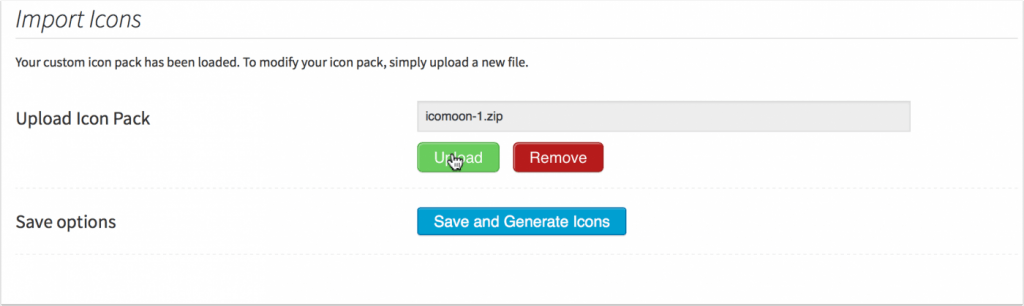 IcoMoon Icon Upload