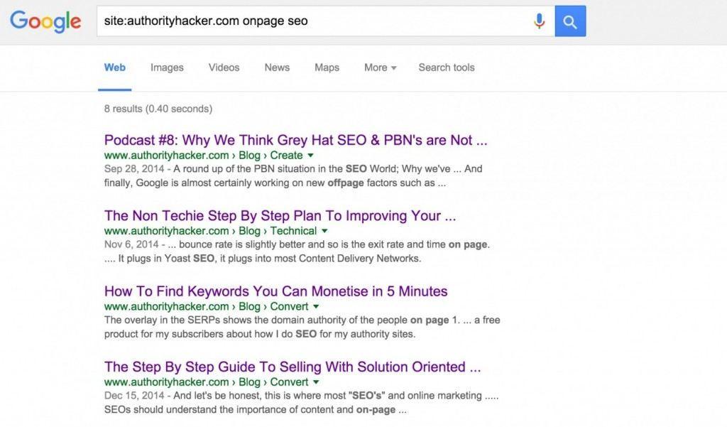 site:authorityhacker.com onpage SEO Google Search