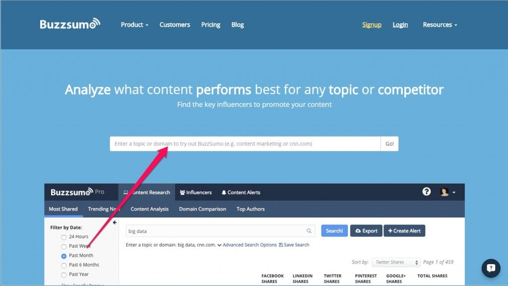 BuzzSumo for Guest Posting