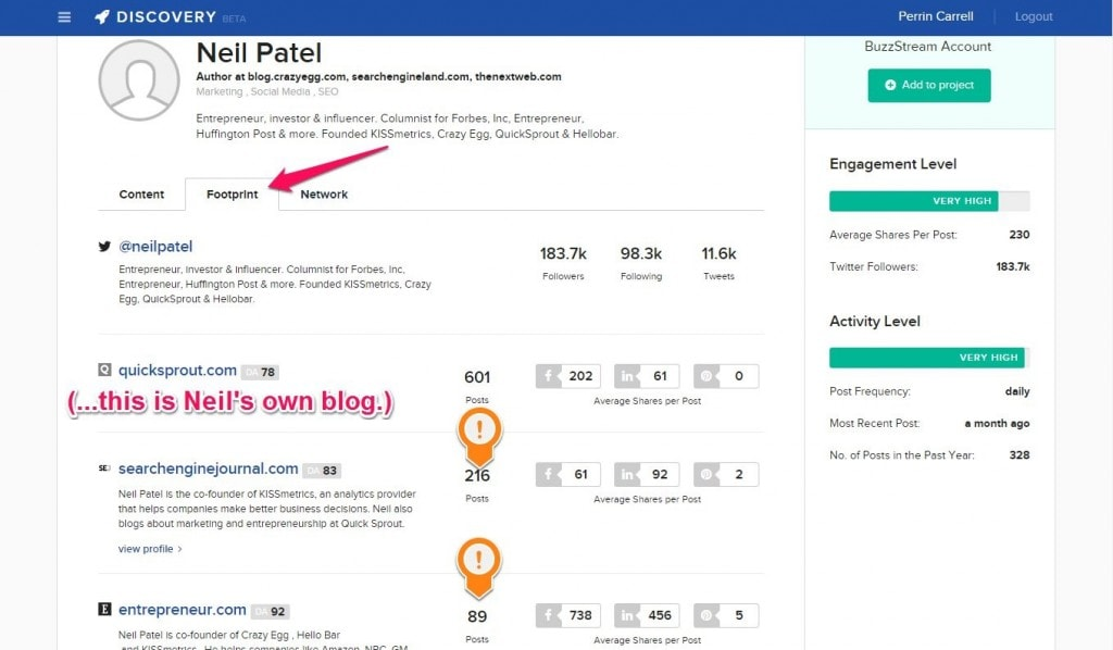 BuzzStream Discovery for guest posting