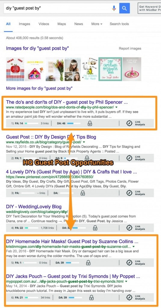 diy guest post by Google search results