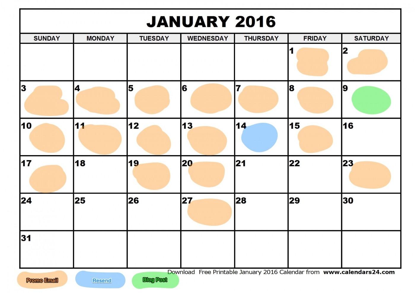 AH January 2016 calendar