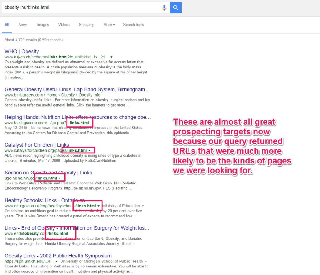 Resource Page Advanced Search For Link Building