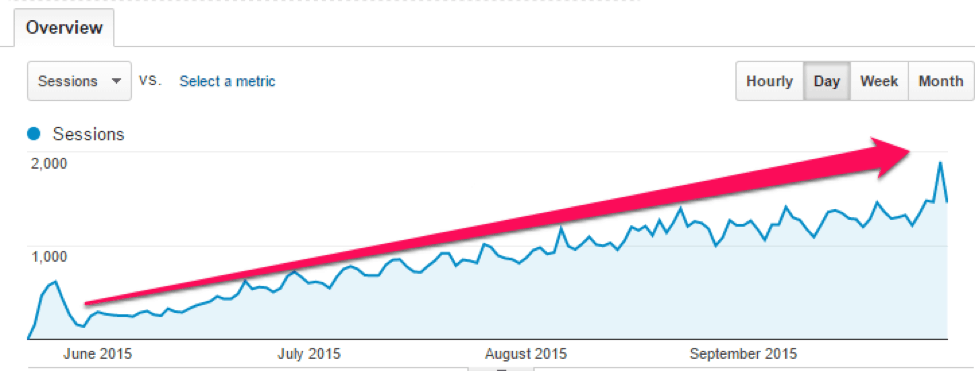 Perrin's Pet Blog Traffic Overview