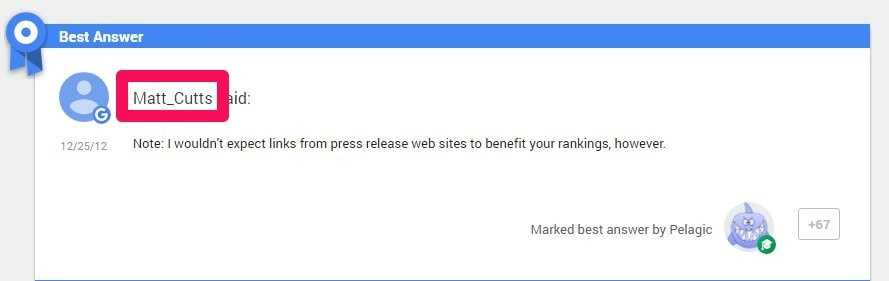 links from press relase web sites don't benefit rankings