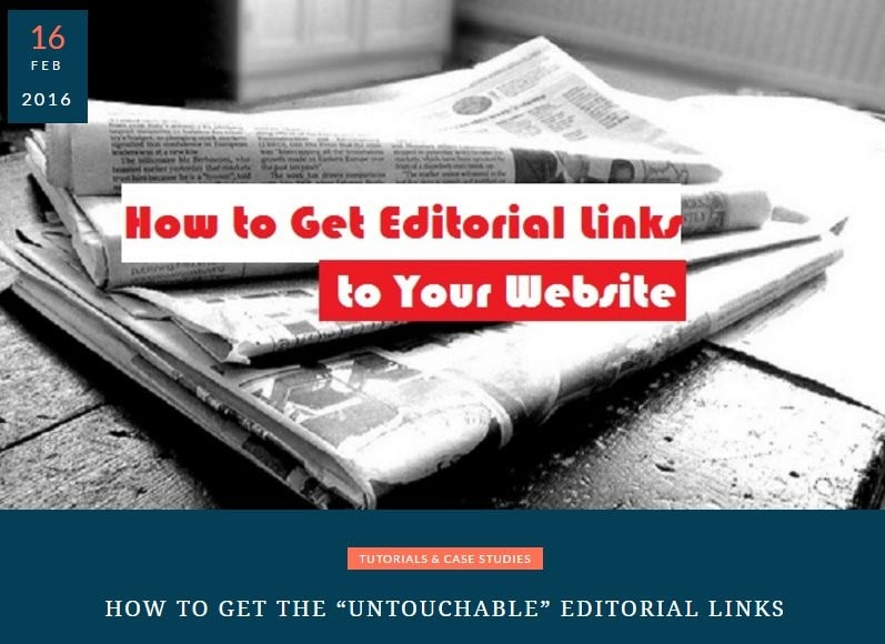 How to Get Editorial Links to Your Website