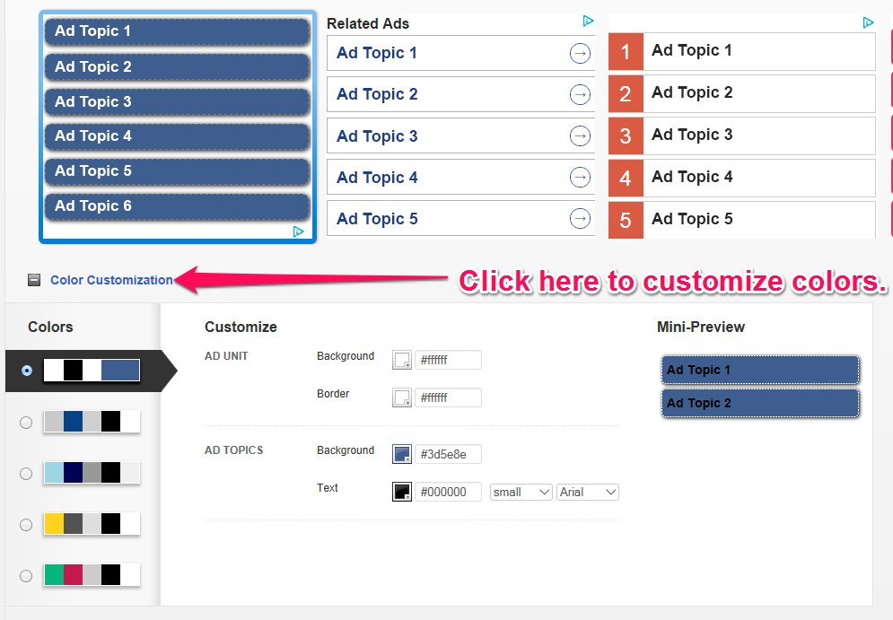 Media.net ad skin customization