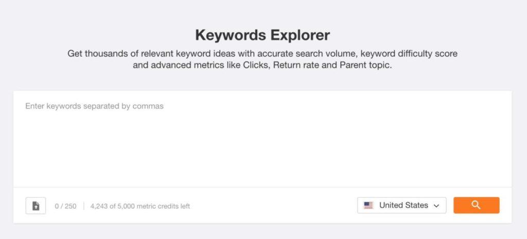 Ahrefs Keywords Explorer