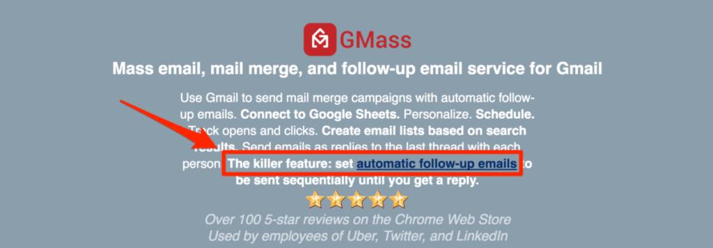 GMass Auto Follow-Ups