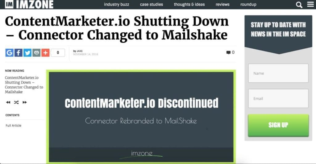 Connector Changed To Mailshake
