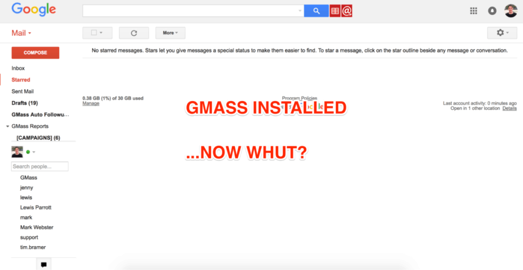 Gmass Installed