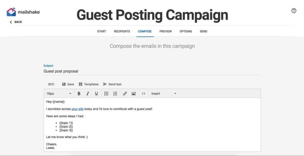 Mailshake Compose Email Template