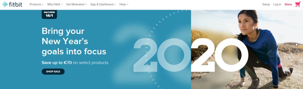 Fitbit Homepage Screenshot