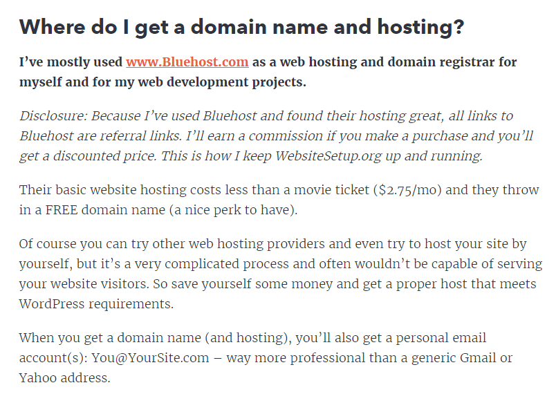 Where do I get a domain name and hosting?