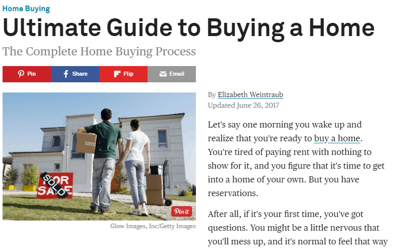 The Balance Ultimate Guide to Buying a Home