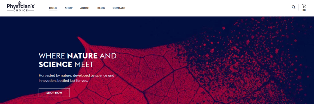 Physicians Choice Homepage Screenshot