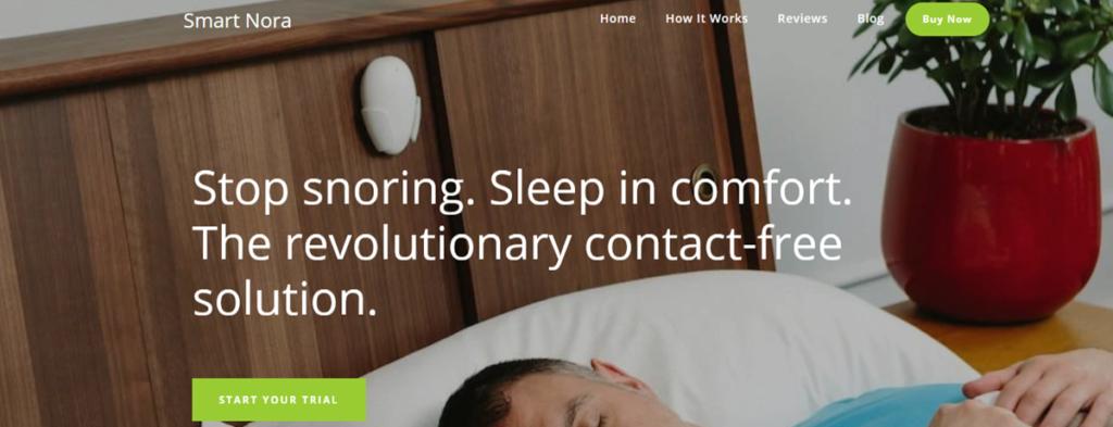 Smart Nora Homepage Screenshot