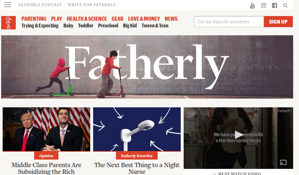 Fatherly.com homepage