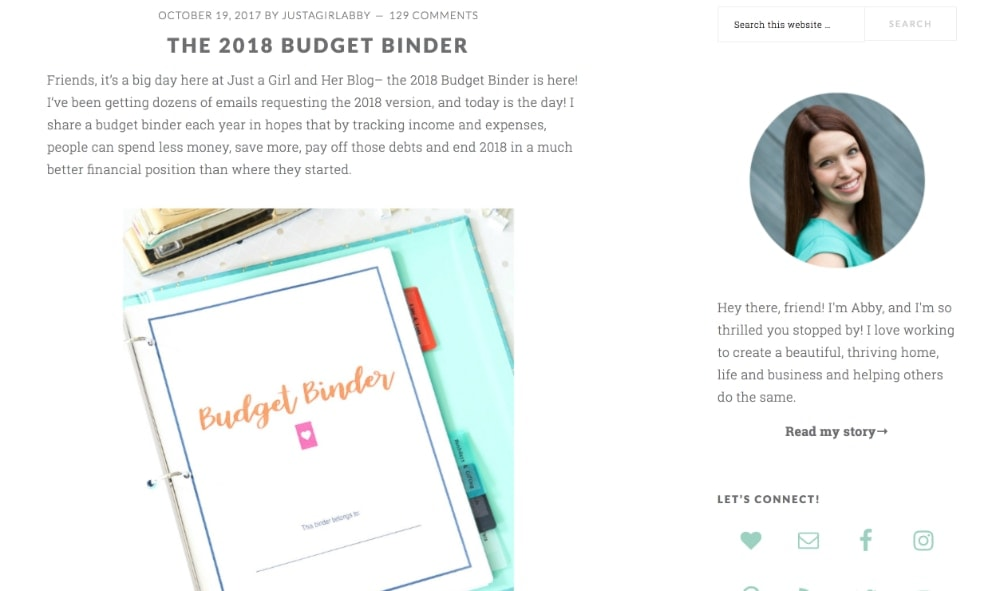 Just a Girl and Her Blog The 2017 Budget Binder