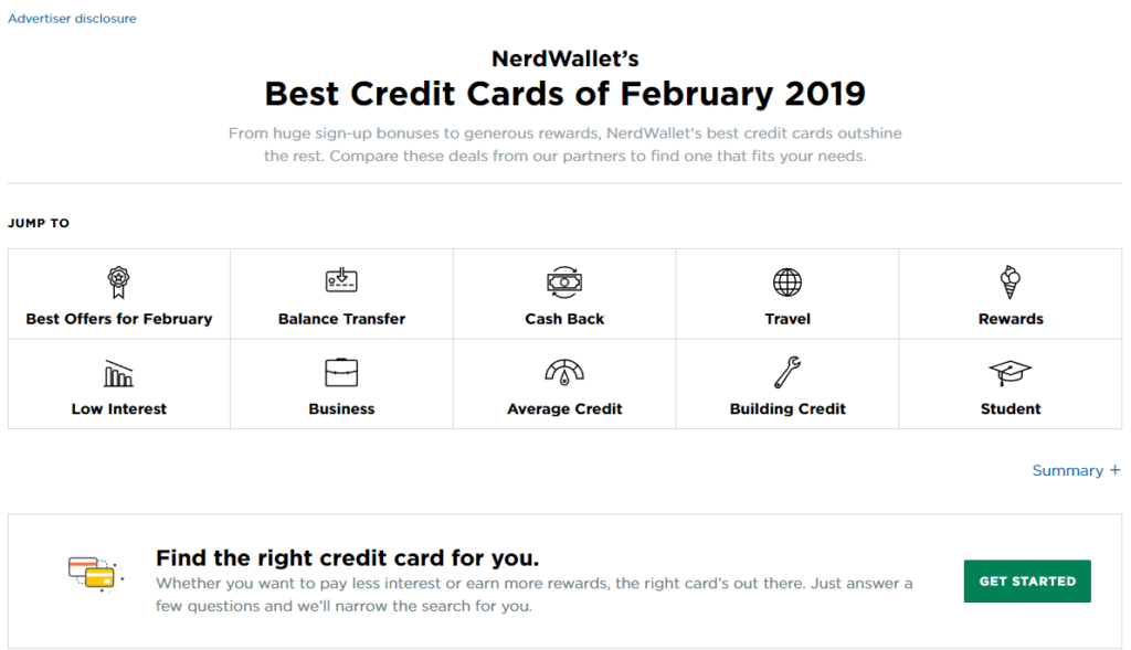 Nerdwallet best credit cards of 2019