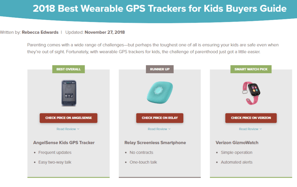 Safewise best wearable GPS trackers