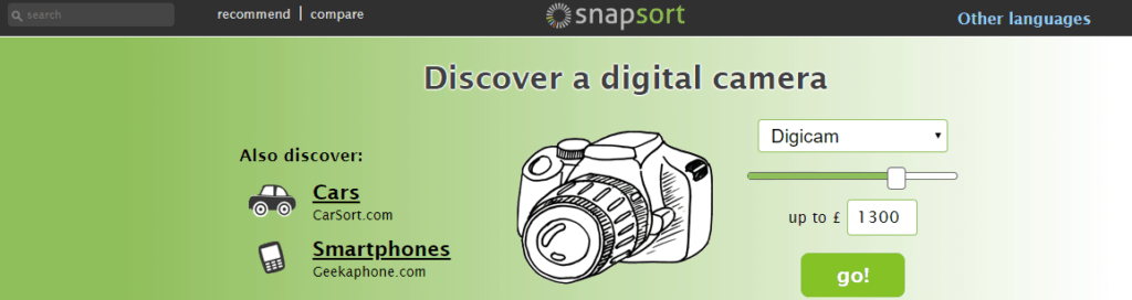 Snapsort homepage