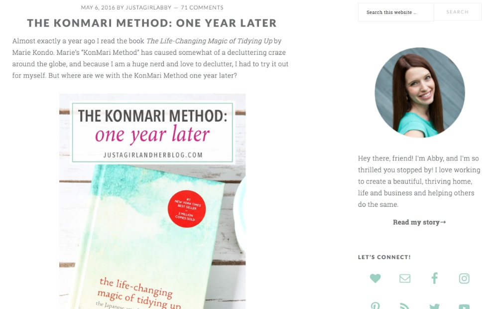 The KonMari Method- One Year Later
