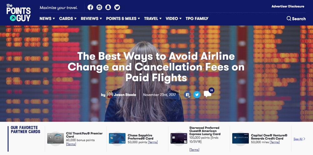 The Points Guy Avoid Airline Change and Cancellation Fees