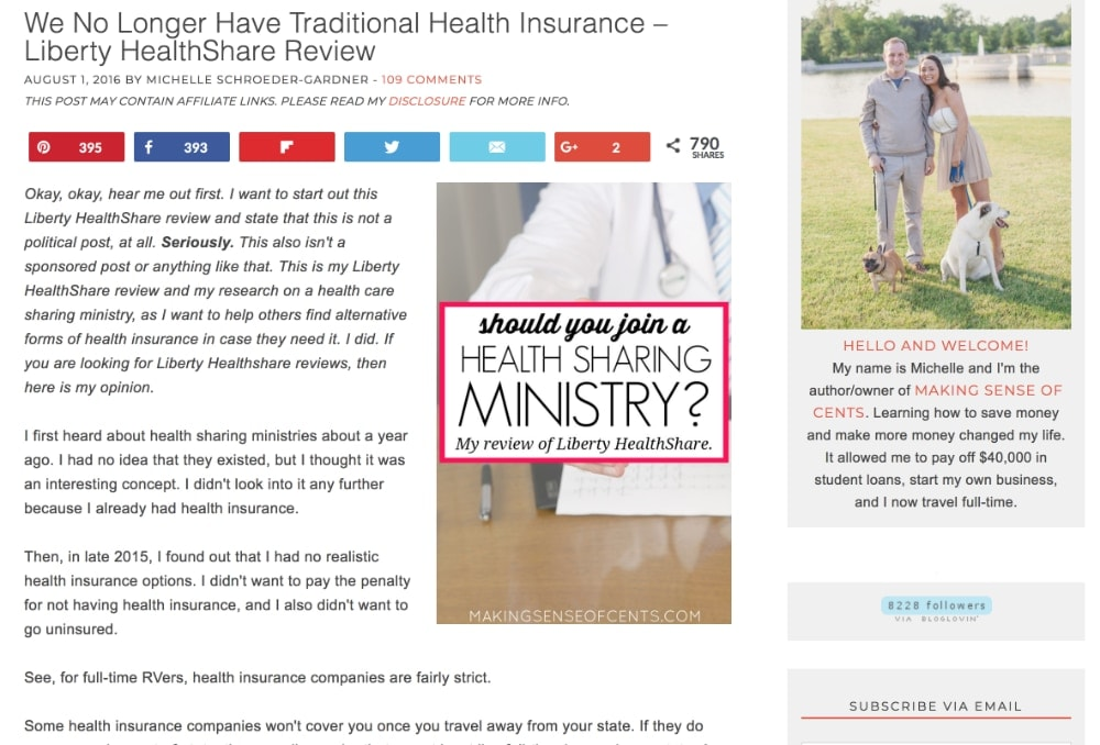 We No Longer Have Traditional Health Insurance – Liberty HealthShare Review