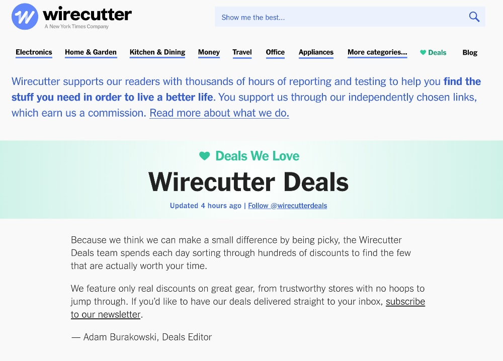 Wirecutter Deals