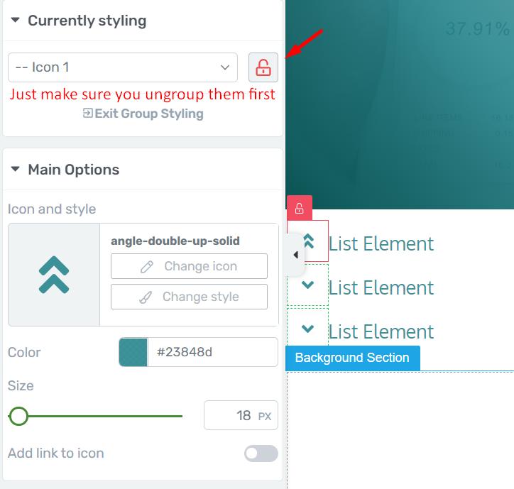 Icon List Styling Thrive Architect