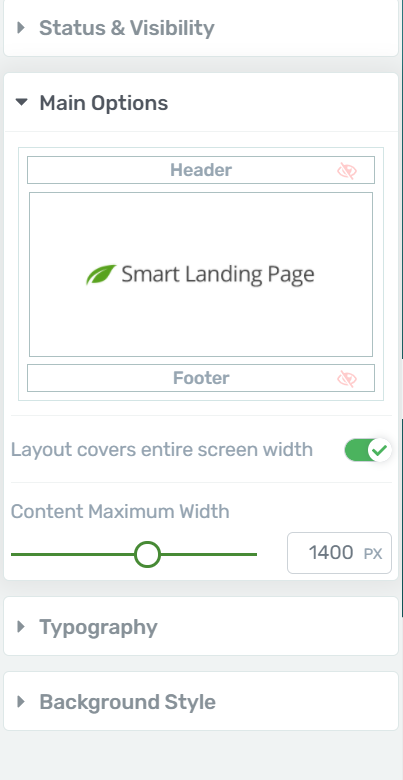 Page Settings Content Width Thrive Architect