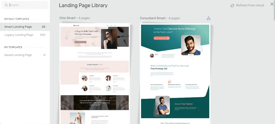 Thrive Architect Landing Page Library