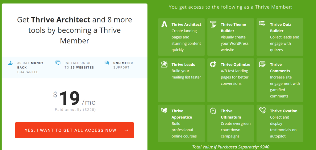 Thrive Membership Pricing