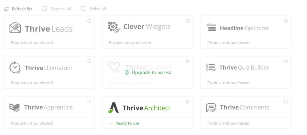 Thrive Themes Products