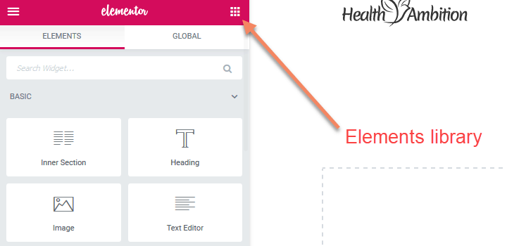 Elementor Elements Library