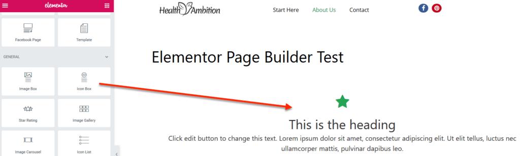 Icon Box Widget in Elementor