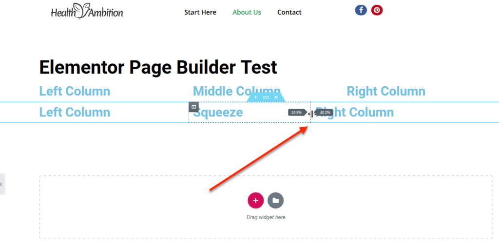 How to Adjust column width in Elementor