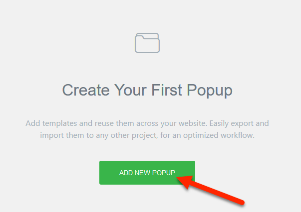how to add a new popup in Elementor