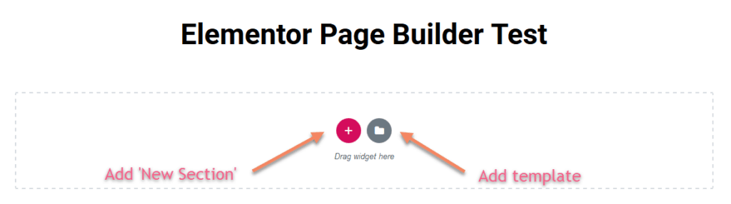 Adding New Section in Elementor
