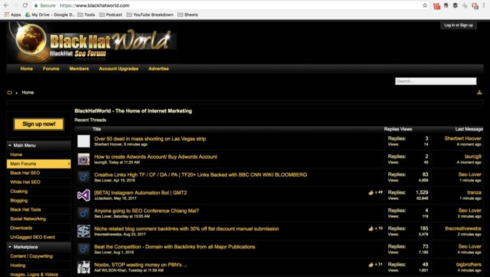Black Hat World Homepage