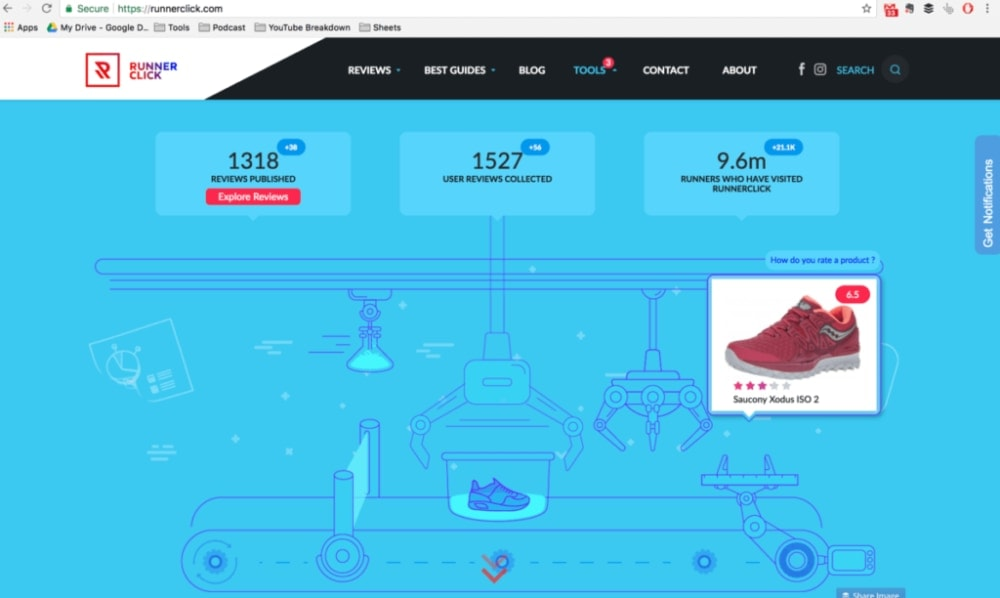 Runner Click Homepage