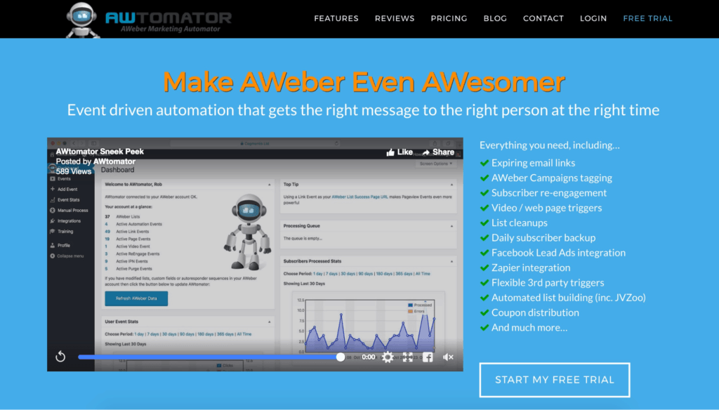 AWeber Add-on Service AWtomator